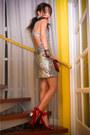 Silver-glitterati-dress-red-lanvin-x-h-m-heels-red-bag-silver-earrings