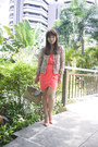 Coral-wrap-suiteblanco-dress-white-zara-jacket