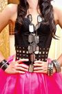 Glitterati-intimate-pink-glitterati-skirt-black-grommet-by-glitterati-belt-