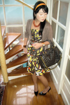 HK sweater - Zara dress - Marc by Marc Jacobs purse - Zara shoes