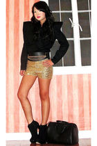 black Rockwell Bazaar blouse - black Topshop boots