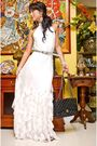 White-moonshine-dress-silver-vintage-belt-black-chanel-purse-white-from-my