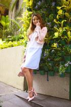 light blue ALTUZARRA dress - light pink Zara jacket