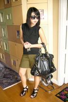 HK Vintage Shop shirt - My Brothers Ol Clothes shorts - balenciaga purse - Anthe