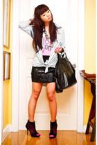 black mesh peeptoe US boots - black nightingale Givenchy bag