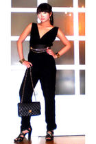 Glitterati suit - Glitterati belt - Chanel purse - Zoo Shoes shoes - Anthology b