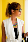 White-zalora-vest-black-fash-glasses
