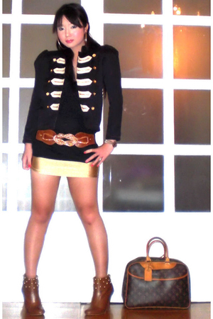 gold bondage mini glasnost skirt - brown studded boots online shoes