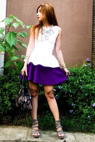 purple full Glitterati skirt - black Vivienne West bag