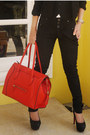 Black-zara-pants-red-celine-bag-black-prada-glasses