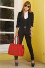 Red-celine-bag-black-zara-pants-black-prada-glasses