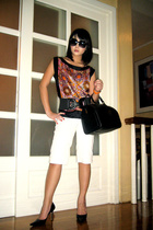 Zara Woman top - vintage belt - Louis Vuitton purse - Nine West shoes