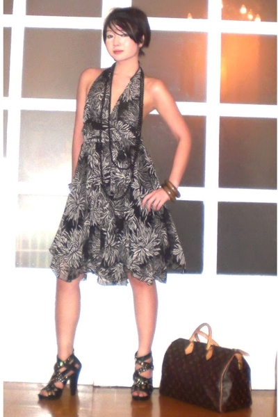 brown bracelet - black bracelet - black Zoo Shoes shoes - black dress