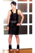 Mens section Department Store top - duerr skirt - Zara belt - necklace - Monica