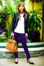 Blue-zara-shoes-blue-mango-pants-gold-ruckus-necklace-beige-zara-top