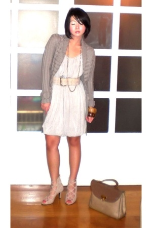 beige Nina Ricci bag - beige Renegade Folk shoes - gray Tyler dress