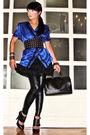 Blue-love-vintage-blouse-black-mango-skirt-leggings-black-aldo-shoes-gli