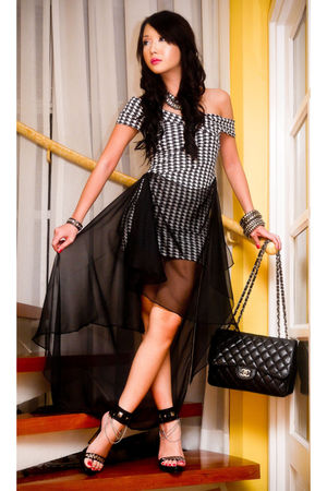 Glitterati dress - black Chanel bag - online shoes - black assorted bracelet - s