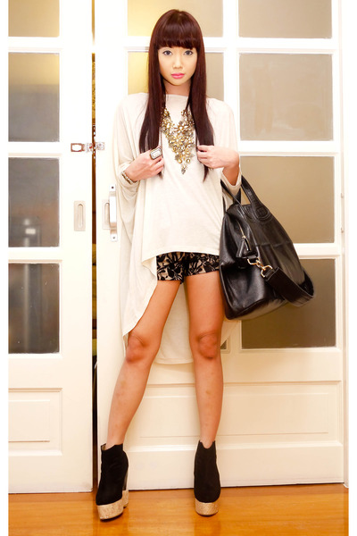 black wedges Soule Phenomenon boots - black nightingale Givenchy bag