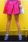 Blue-zara-jacket-pink-poisonberry-skirt-white-marks-and-spencer-socks-blue