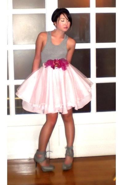 Zara top - Glitterati skirt - Carolinas accessories - Topshop shoes - Bebe earri