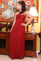 ruby red Glitterati dress