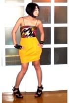 black Topshop top - black Anthem shoes - yellow Urban Juncture skirt