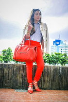 red Valentino shoes - red Celine bag