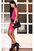 black Glitterati belt - black online boots - pink Glitterati dress