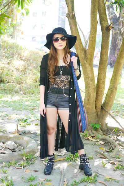 black Topshop bodysuit