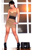 black Glitterati belt - black online shoes - brown Tyler dress