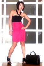 pink Glitterati skirt - black Topshop shoes - black Louis Vuitton bag