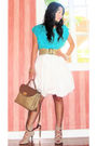 Blue-vintage-italian-blouse-beige-vintage-belt-white-luca-skirt-beige-vint