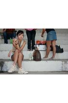 Mango vest - Keds shoes - Debenhams scarf - Louis Vuitton purse
