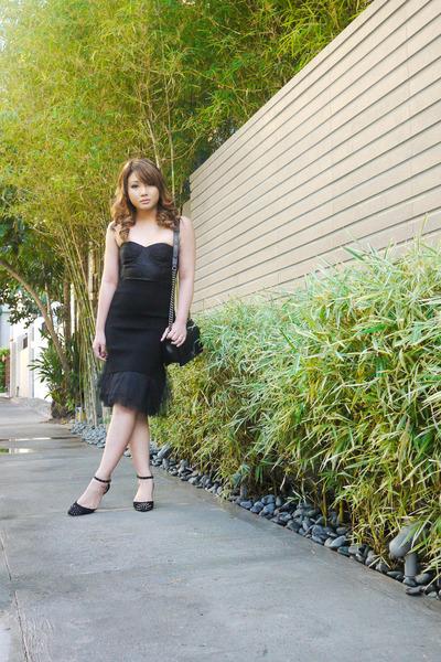 black Topshop blouse - black Zara heels