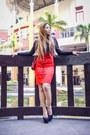 Red-sheinside-dress-red-chanel-bag