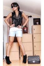 black Trunk Show vest - black suede platform Topshop boots