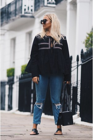 black chanel boy bag Chanel bag - navy skinny jeans asos jeans