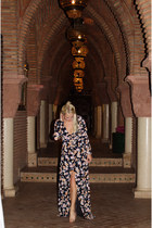 maroon maxi Missguided dress