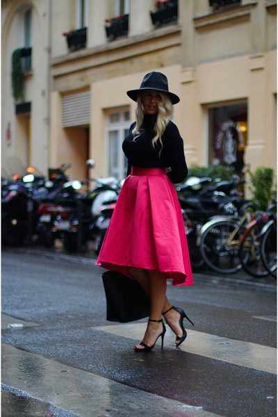 Hot Pink Midi Skirt Coast Skirts, Black Leather Shopper Zara Bags ...