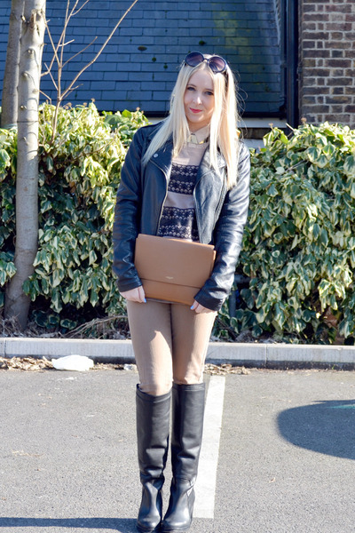 brown Matalan jeans - black leather Topshop boots