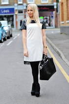 black chelsea boots asos boots - cream Poppy Lux dress