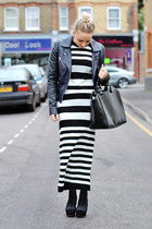 STRIPE MONOCHROME TWO PIECE