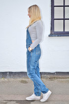 blue dungaree Topshop jeans