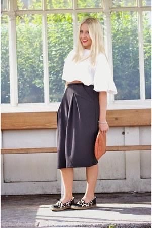 camel primark clutch Primark bag - black culottes asos pants - eggshell asos top