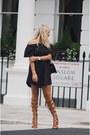 Black-missguided-dress-dark-brown-public-desire-heels