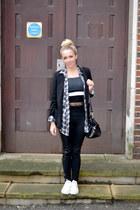 black leggings H&M leggings - black blazer new look blazer