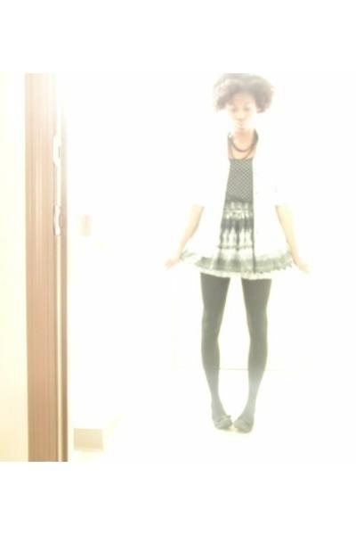 light blue jean mens Gap top - black studded Charlotte Russe top - black and whi