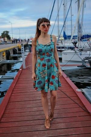 turquoise blue DressLink dress