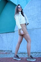 tan a-line Wholesale7 skirt